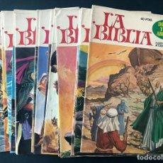 Livros de Banda Desenhada: LA BIBLIA - ILUSTRADA A TODO COLOR / 18 EJEMPLARES DIFERENTES / SIN USAR / BRUGUERA 1978. Lote 275467588