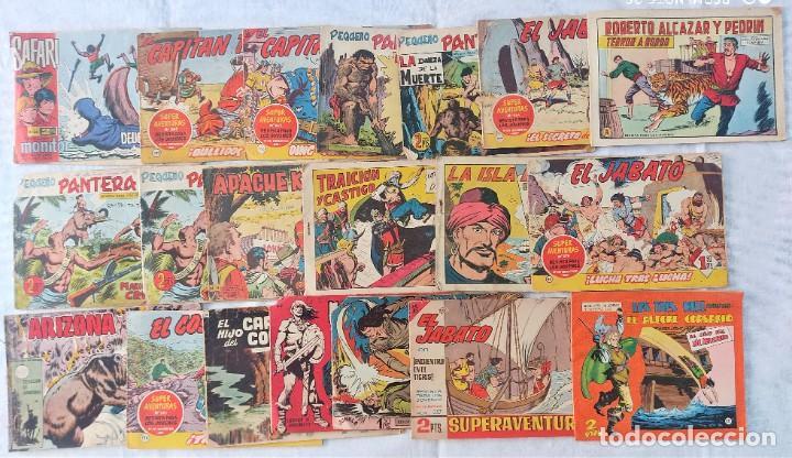 LOTE 20 TEBEOS CLÁSICOS VARIADOS SAFARI, PEQUEÑO PANTERA, GUERRERO ANTIFAZ, EL ALEGRE CORSARIO,... (Tebeos y Comics - Tebeos Pequeños Lotes de Conjunto)
