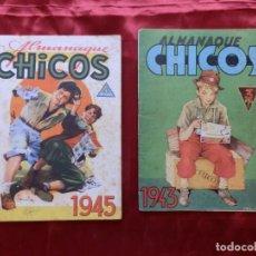 Giornalini: 2 ALMANAQUES CHICOS 1943 Y 1945. Lote 276561573