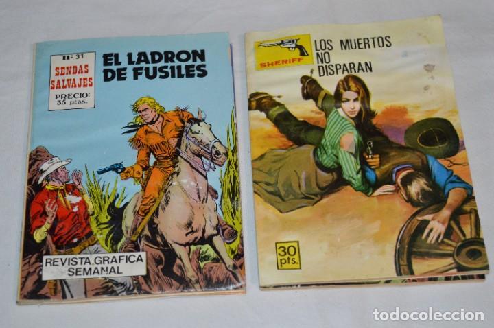 Tebeos: 11 Ejemplares/Comics / SHERIFF, SENDAS SALVAJES y otros - Diferentes editoriales - ¡MIRA! Lote 02 - Foto 3 - 277076798
