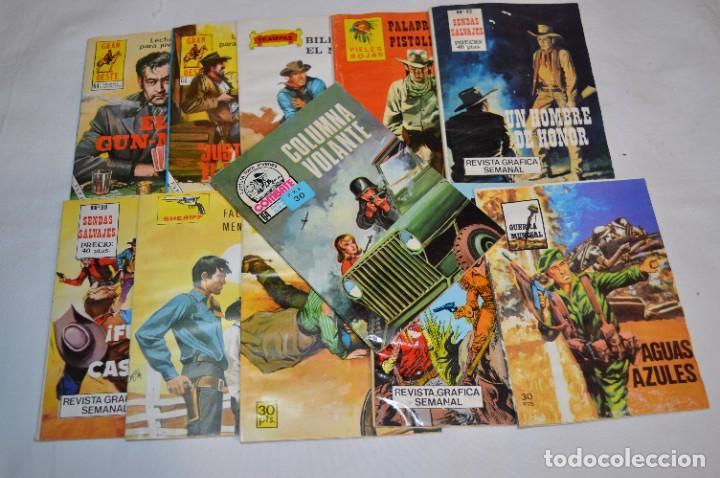 11 EJEMPLARES/COMICS / SHERIFF, SENDAS SALVAJES Y OTROS - DIFERENTES EDITORIALES - ¡MIRA! LOTE 02 (Tebeos y Comics - Tebeos Pequeños Lotes de Conjunto)