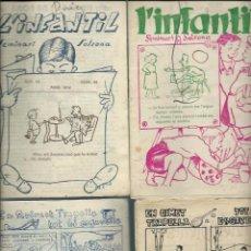 Tebeos: 4 NUMEROS DE L' INFANTIL 1ª EPOCA - Nº 37, 50, 54/55 I 62 - SEMINARI DE SOLSONA 1954-1956, ORIGINALS. Lote 279441293