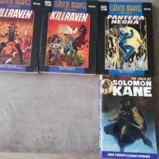 Livros de Banda Desenhada: LOTE MARVEL SOLOMON KANE/ PANTERA NEGRA/ KILLRAVEN FORUM. Lote 286051433