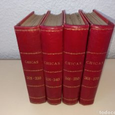 Tebeos: REVISTA CHICAS LOTE DE 4 TOMOS ENCUADERNADOS 3A EPOCA 1956 1957. Lote 286858823