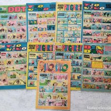 Tebeos: LOTE 9 - DDT Nº 77 - DIN DAN Nº 5 - TIO VIVO Nº 354, 402, 433, 860 - PULGARCITO Nº 1949, 1951, 1967. Lote 286988198