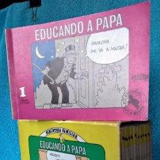 Tebeos: EDUCANDO A PAPÁ DE FRANK JOHSON. COLECCIÓN CASI COMPLETA 11 TOMOS ED OVEJA NEGRA.. Lote 288654338
