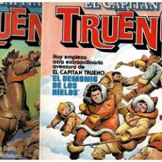 Tebeos: EL CAPITAN TRUENO. COLECCIÓN COMPLETA DE 13 NÚMEROS. 1 AL 13. BRUGUERA 1986. MUY BUENOS.. Lote 294484908