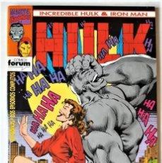 Tebeos: DE TIENDA - INCREIBLE HULK & IRON MAN, Nº 5 - FORUM (1993). Lote 295595098