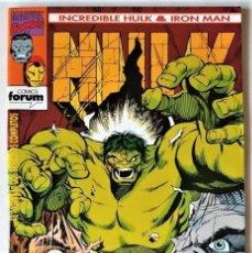Tebeos: DE TIENDA - INCREIBLE HULK & IRON MAN, Nº 4 - FORUM (1993). Lote 295595258