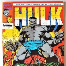 Tebeos: DE TIENDA - INCREIBLE HULK & IRON MAN, Nº 1 - FORUM (1993). Lote 295595403