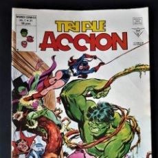 Tebeos: EN BUEN ESTADO - TRIPLE ACCIÓN, VOL. 1, Nº 21 - VERTICE (MUNDI COMICS) (1980). Lote 295613548