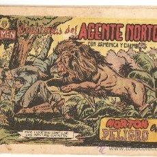 Tebeos y Cómics Extras: EL AGENTE NORTÓN, AÑO 1.951. Nº 5. ORIGINAL EDITORIAL JARA.. Lote 34465241
