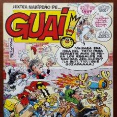 Tebeos y Cómics Extras: REVISTA GUAI!: EXTRA NAVIDEÑO 1987. POSTER CALENDARIO 1987. Lote 61354067