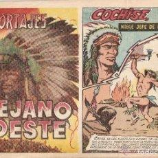 Tebeos y Cómics Extras: REPORTAJES LEJANO OESTE, AÑO 1.955. Nº 3. COCHISE. ORIGINAL. EDITORIAL EDÍGESA.. Lote 95722279