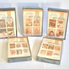 Tebeos y Cómics Extras: TINTIN 5 CINTAS CASETE EN INGLÉS. CURSO STUDY COMICS - EDICIONES DEL PRADO 1988. COMPLETA / CASSETTE. Lote 104130927
