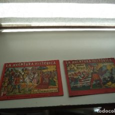 Tebeos y Cómics Extras: LA AVENTURA HISTÓRICA, AÑO 1.943. Nº 3 LOS ALMOGÁVARES, Nº 7 EL TAMBOR DEL BRUCH.EDICIONES AUGUSTA.. Lote 109550863