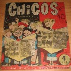 Tebeos: ANTIGUO TEBEO CHICOS N. 10 - ED. CID - AÑO 1954 - LOMO DETERIORADO.. Lote 7421487
