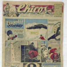 Tebeos: TEBEO CHICOS Nº 370 21-DICIEMBRE-1945 UNA AVENTURA DE CUTO: TRAGEDIA EN ORIENTE Y OTRAS. Lote 9789822