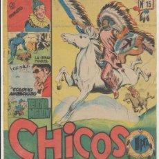 Tebeos: CHICOS Nº 15. CID 1954.. Lote 25642576