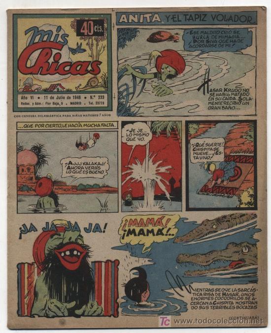 MIS CHICAS. C. GIL 1941. Nº 233. (Tebeos y Comics - Consuelo Gil)