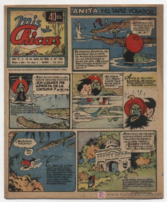 MIS CHICAS. C. GIL 1941. Nº 234. (Tebeos y Comics - Consuelo Gil)