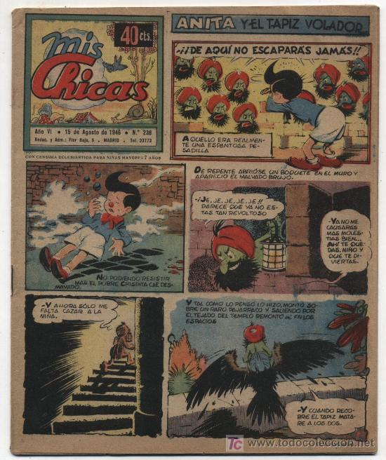 MIS CHICAS. C. GIL 1941. Nº 238. (Tebeos y Comics - Consuelo Gil)
