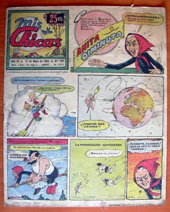 MIS CHICAS Nº 139 - EDITORIAL C. GIL 1941 (Tebeos y Comics - Consuelo Gil)