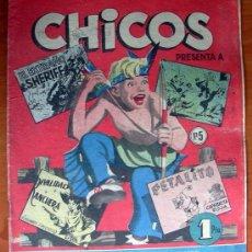 Tebeos: CHICOS Nº 5 - EDITORIAL CID 1954. Lote 18294211