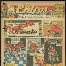 Tebeos: CHICOS. AÑO VIII. Nº 357. 11 JULIO DE 1945. TRAGEDIA EN ORIENTE.. Lote 18456279