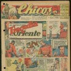Tebeos: CHICOS. AÑO VIII. Nº 355. 21 JUNIO DE 1945. TRAGEDIA EN ORIENTE.. Lote 18456310