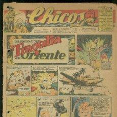 Tebeos: CHICOS. AÑO VIII. Nº 351. 2 MAYO DE 1945. TRAGEDIA EN ORIENTE.. Lote 18456348