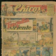 Tebeos: CHICOS. AÑO VIII. Nº 350. 25 ABRIL DE 1945. TRAGEDIA EN ORIENTE.. Lote 18456364