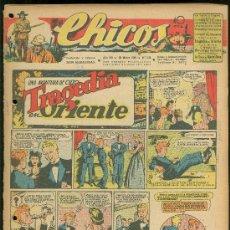 Tebeos: CHICOS. AÑO VIII. Nº 346. 28 MARZO DE 1945. TRAGEDIA EN ORIENTE.. Lote 18456402
