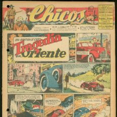 Tebeos: CHICOS. AÑO VIII. Nº 344. 14 MARZO DE 1945. TRAGEDIA EN ORIENTE.. Lote 18456420
