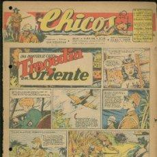 Tebeos: CHICOS. AÑO VIII. Nº 349. 18 ABRIL DE 1945. TRAGEDIA EN ORIENTE.. Lote 18456495
