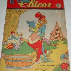 Tebeos: EL GRAN CHICOS - AÑO I MAYO 1946 - NUM. 7 - 34 PAG - MIDE 29 X 21 CMS - CON RECORTABLES, LOMO CON DE. Lote 20569939