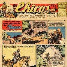 Tebeos: CHICOS Nº404 (CUTO DE BLASCO, EL ECO DE LAS TRES MONTAÑAS DE IRANZO, EL BUQUE SIN NOMBRE DE COELHO... Lote 21659962