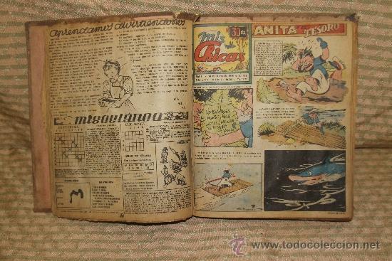 2083- MIS CHICAS. PUBLICACION INFANTIL SEMANAL. AÑO V Y VI FEBRERO/ JUNIO 1946. ENCUADERNADO 1 TOMO (Tebeos y Comics - Consuelo Gil)