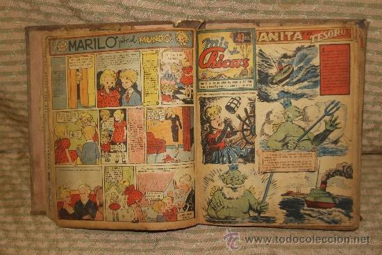 Tebeos: 2083- MIS CHICAS. PUBLICACION INFANTIL SEMANAL. AÑO V Y VI FEBRERO/ JUNIO 1946. ENCUADERNADO 1 TOMO - Foto 2 - 34641439