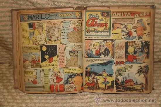 Tebeos: 2083- MIS CHICAS. PUBLICACION INFANTIL SEMANAL. AÑO V Y VI FEBRERO/ JUNIO 1946. ENCUADERNADO 1 TOMO - Foto 3 - 34641439