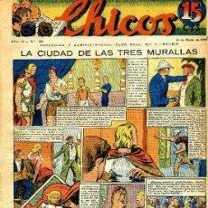 Tebeos: CHICOS Nº106 (CONSUELO GIL, 13 MARZO 1940). Lote 35785116