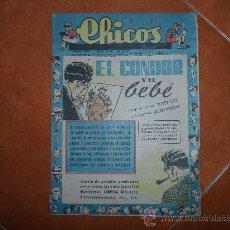 BDs: CHICOS ORIGINAL Nº 492 EDITORIAL CONSUELO GIL AÑOS 40 . Lote 36435527