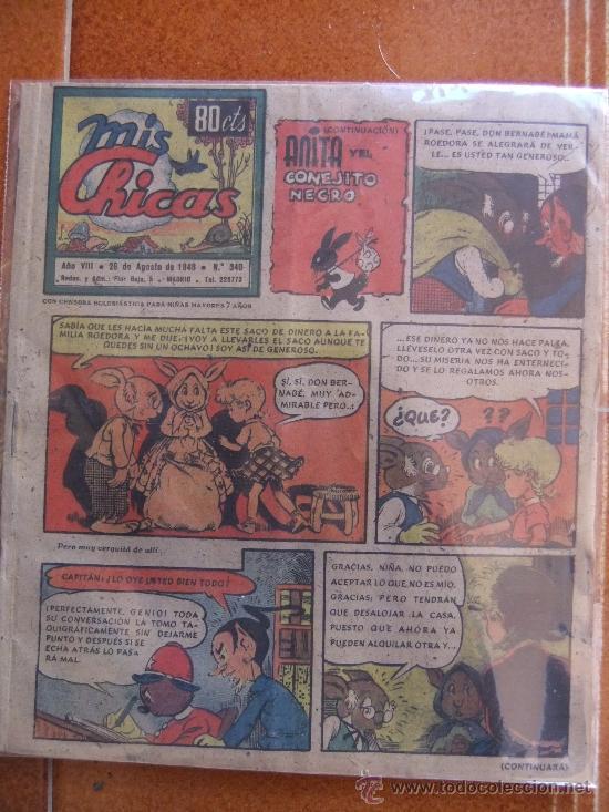 MIS CHICAS Nº 340 AGOSTO DE 1948 (Tebeos y Comics - Consuelo Gil)