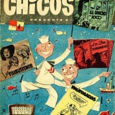 Tebeos: CHICOS Nº6 (COELHO, BORNÉ, SANTIAGO MARTÍN, CARRILLO, FIGUERAS, PAU PI.) ORIGINAL 1954. Lote 37370413