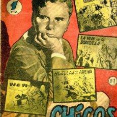 Tebeos: CHICOS Nº4 (COELHO, BORNÉ,FIGUERAS, MONTAÑÉS, PAU PI...) ORIGINAL 1954. Lote 37370462