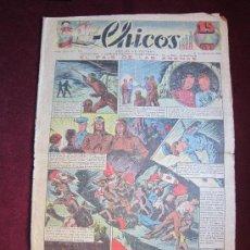 Tebeos: CHICOS AÑO II. Nº 75. AGOSTO 1939. EL PAÍS DE LAS ARENAS DE FREIXAS EN PORTADA. Lote 37382967