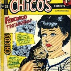 Tebeos: CHICOS Nº53 (HISTORIETAS DE BUYLLA, PIZARRO, BERMEJO, ABELLÁN, HOMBRES BUENOS, MARTIN SALVADOR). Lote 38220731