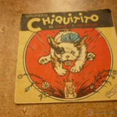 Suplemento Chiquitito nº 7 Chicos y Mis Chicas Mayo 1942