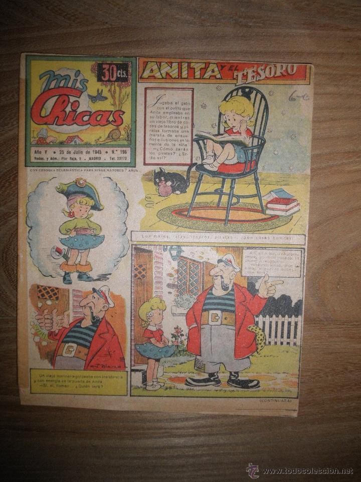 REVISTA MIS CHICAS Nº 196, 25 DE JULIO 1945. ANITA DIMINUTA * (Tebeos y Comics - Consuelo Gil)