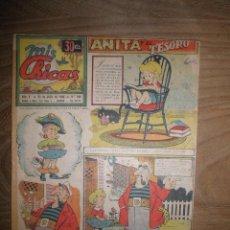 Tebeos: REVISTA MIS CHICAS Nº 196, 25 DE JULIO 1945. ANITA DIMINUTA *. Lote 40095359